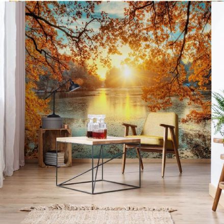 "Paper photo wallpaper ""Autumn"" Sunset Lake view"